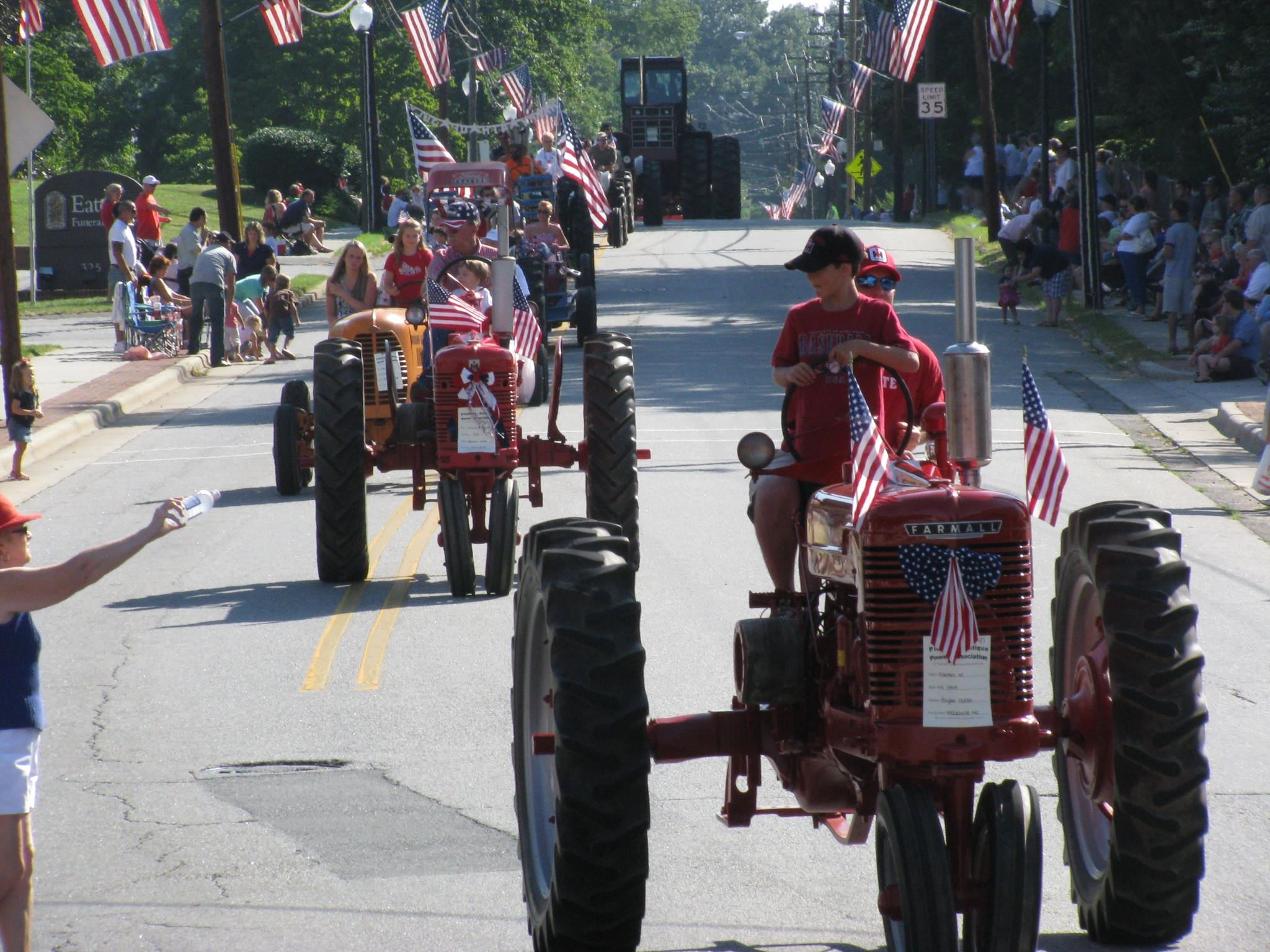 Tractor Parade Downtown Mocksville
