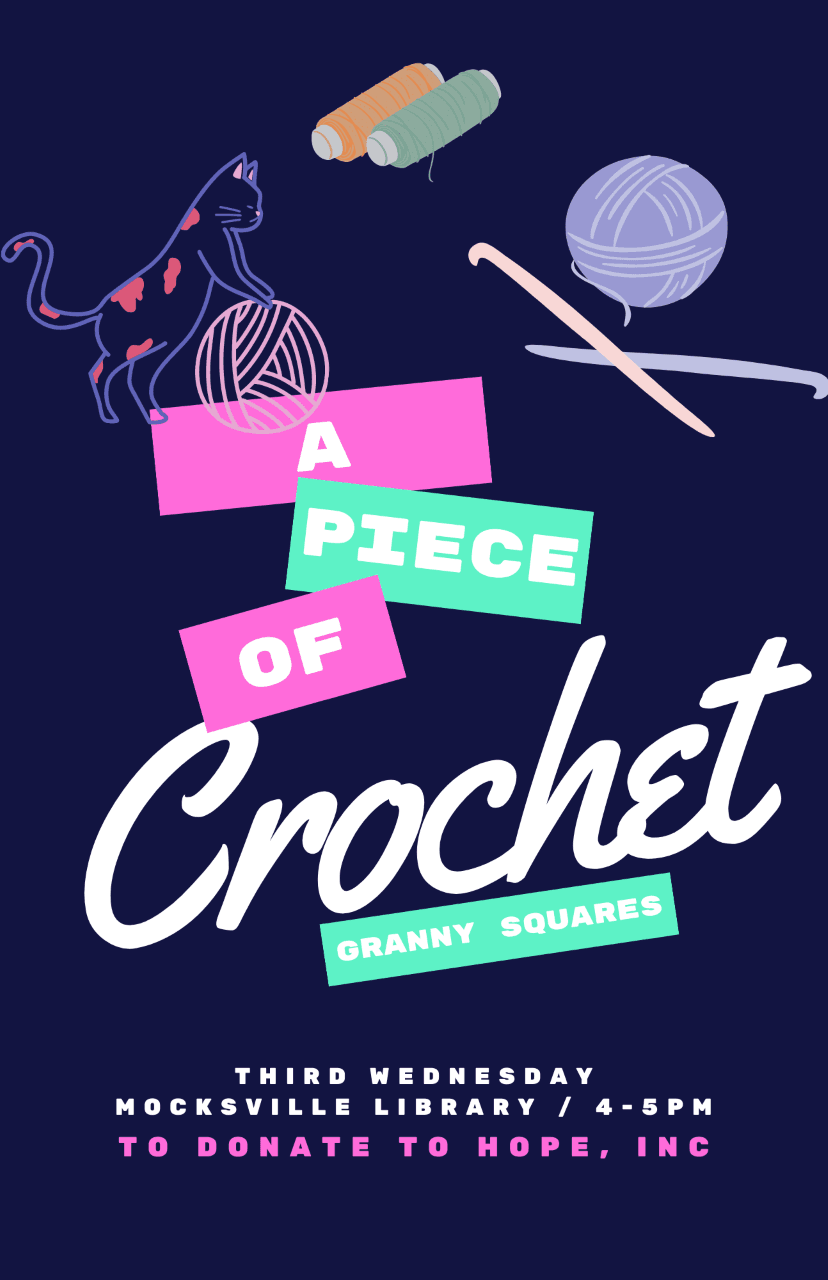 a piece of crochet flyer