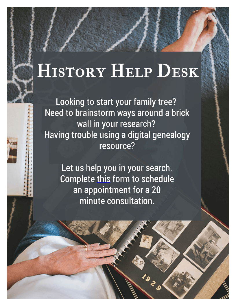 Click image for history room consultation sign up