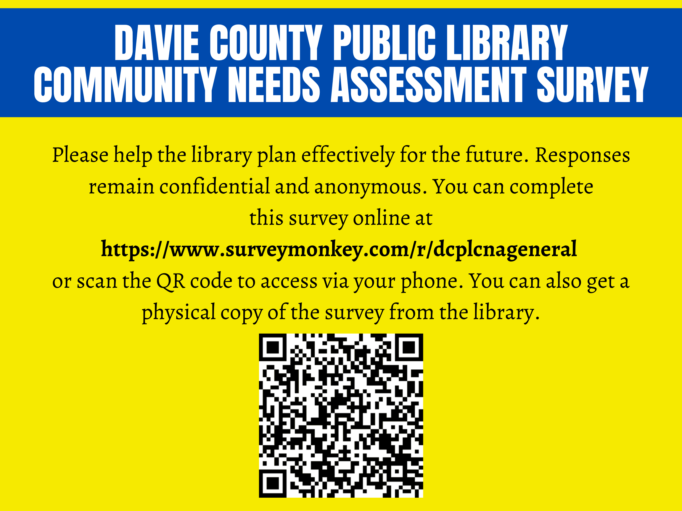 DCPL Community needs assessment social media post