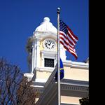 Courthouse and Flag