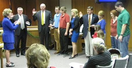 Commissioners' take Oath of Office